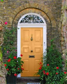 goldenrod door