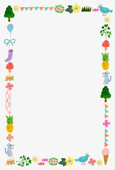 Cute Picture Frames, Boarders And Frames, Memo Notepad, Diy And Crafts, Paper Crafts, Note Memo, Kids Background, Background Powerpoint, Flower Svg