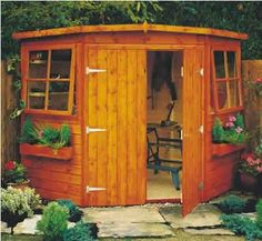 Perfect corner shed.