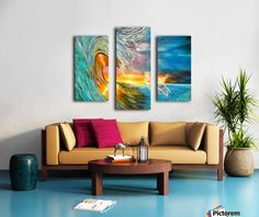 Triptych,  wave,painting,ocean,scene,seascape,sunset,sunrise,nature,horse,beautiful,images,colorful,multicolor,blue,gold,golden,bright,impressive,contemporary,modern,wall,art,awesome,cool,artwork,for,sale,home,office,decor,running,light,crystal,big,high,sea,water,rough,wild,crashing,breaking,fine,oil,items,ideas,panels,stretched,split,canvas