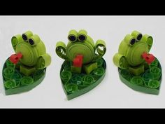 How to make a quilling frog quilling animal DIY (tutorial + free pattern) Mehr Diy Quilling Projects, Quilling Paper Craft, Quilling 3d, Paper Crafts, Quilling Images, Quilling Videos, Quilling Techniques, Paper Quilling Tutorial, Quilled Paper Art