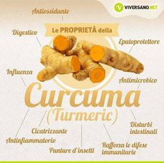 Proprietà della Curcuma Healthy Beauty, Healthy Tips, Healthy Recipes, Vegetarian Recipes, Healthy Cooking, Healthy Eating, Healthy Food, Fit Girl, Juice Plus