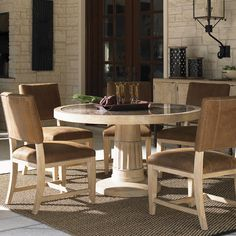 Dining Room Furniture San Diego Beauteous Costa Del Sol 7Piece Marquetry Dining Table Set  #greathouse Design Ideas
