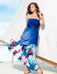 16c0dbb6818 Blue layered summer dress from Lane bryant Summer dress collection. Plus  Size Fashion For Women