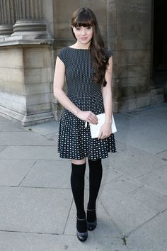 Hailee Steinfeld showed off her stems (and new bangs!) at the Louis Vuitton show on Wednesday.