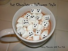 Halloween style hot cocoa