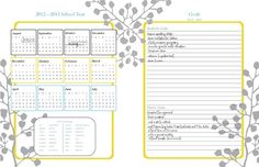 An Intentional Life: homeschool, real food, traveling and more!: FREE Homeschool Daily Planner 2012-2013