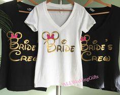 Disney Bachelorette Party, Bachelorette Party Disney, Disney Bride Bridesmaid Shirts, Disney Team Bride Shirts, Disney Bachelorette Weekend