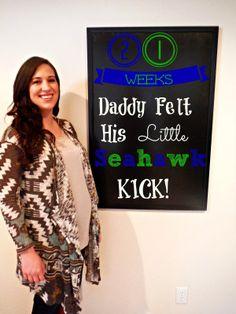 21 Week Update-Pregnancy Chalkboard Tracker