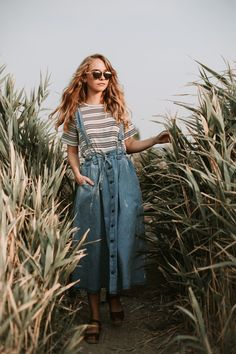 The Elliot Denim Overall Dress Mode Outfits, Skirt Outfits, The Dress, Dress Skirt, Latest Fashion For Women, Womens Fashion, Fashion Trends, Fashion Fashion, Cheap Fashion