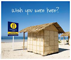 A good estate agents post card design for the summer