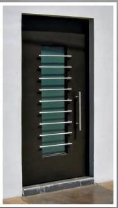 Elaboracion e instalacion de rejas y puertas de seguridad for Puertas de entrada principal minimalistas