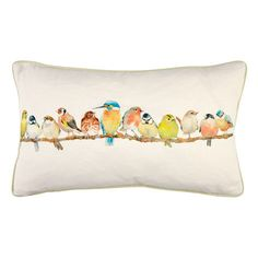 Laura Ashley Garden Birds Hedgerow Cushion #lauraashleyhome