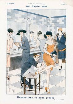 René Giffey 1926 ''Au Lapin Vert'' Nuits de Montmartre