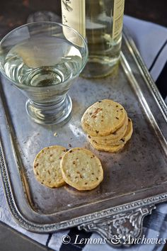 Cheddar, Feta and Caramelized Shallot Crackers from @Jean | Lemons and Anchovies