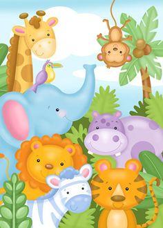 Safari Friends Mural - Janet Skiles  Murals Your Way