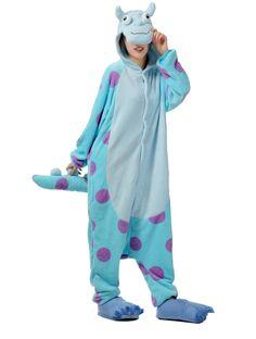 LIHAO Blaue Kuh Onesie Pyjamas Schlafanzug unisex Erwachsene Nachtwäsche Anime Cosplay Halloween Kostüm Kleidung Tier - http://www.amazon.de/dp/B00RLH1O9Q