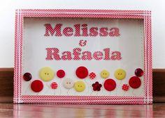 "AGREABLE SCRAPBOOK: Altered no MDF ""MELISSA & RAFAELA"""