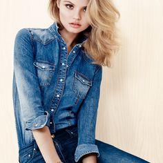 Dicas de moda e beleza by Moda it. Moda it, modait, fashion, style, look do dia, verão, camisa jeans, calça jeans