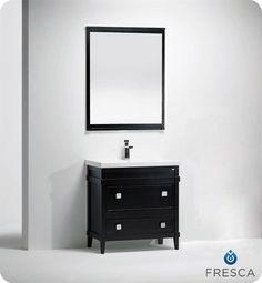 "32"" Blavet Small Modern Bathroom Vanity - Black.  A smart vanity that makes it easy to customize. $1299.00"