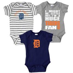 Detroit Tiger onesies, my babies will wear these one day!