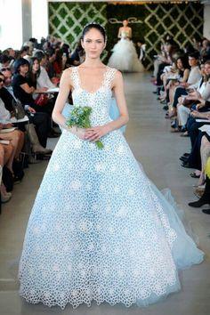 Encantador vestido de novia de crochet