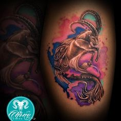 #tattoo #tattoos #tattooed #tatts #tatted #tatto #tattooartist #art #artist #tattooart #tattoolife #colortattoo #color #ink #inked #inkedup #inklife #inkstagram #instatattoo #capricorn #horoscope #watercolor #chinotattoo