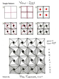 How to draw YEW-DEE « TanglePatterns.com