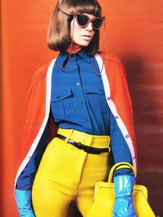 60's fashion on German Vogue....love the pop of color!