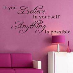 Iuhan_¡ Fashion 1PC Believe Anything is Possible Inspirational Wall Sticker Decals DIY *** Insider's special review you can't miss. Read more  : DIY : Do It Yourself Today