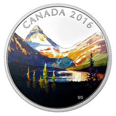 Canada 20 Dollars Silver Coloured Coin 2016 Lake Magog Canadian Landscape Series A beautiful depiction of Lake Magog in British Col. Canadian Gold Coins, Coin Collection Value, Canadian Things, Valuable Coins, Canadian History, Canada, Silver Bullion, Commemorative Coins, Silver Lake