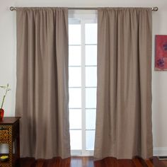 Roc-Lon Brown Denimtone Curtain Panels by Wayfair  $56 for set of 2 panels  84 x 50