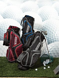 Spring is right around the corner, and the pros are getting ready for the Masters!  Are you ready for the golf season?  Let Excalibur create a custom personalized golf bag from OGIO for you.  We can embroider your company logo and name, monogram your initials, or put any message you desire on the front pocket of the cool golf bags.