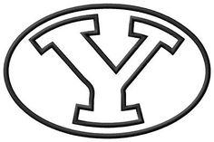 BYU Applique Embroidery Design (3 sizes!!)