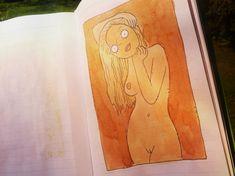 blondýnka z notýsku #nude #sexy #cartoon #sketch