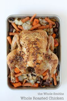 Whole Roasted Chicken from the Whole Smiths. Hands down the BEST and easiest roasted chicken you'll ever have. It's even paleo friendly, Whole30 compliant and of course gluten free.