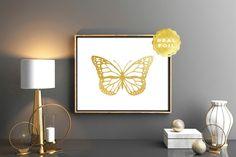 Gold foil butterfly