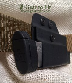 Concealed OWB magazine holder.  Runs horizontally for comfort and concealment.  Get your gear at   www.geartofit.com