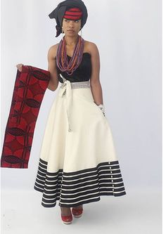 Modern Xhosa Design by Urban Zulu African Print Skirt, African Print Dresses, African Fashion Dresses, African Dress, African Clothes, African Prints, Xhosa Attire, African Attire, African Wear