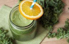 Orange Kale Green Smoothie Recipe