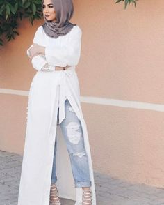 Hijab trend spring fashion – Just Trendy Girls - Prom Dresses Design Islamic Fashion, Muslim Fashion, Modest Fashion, Dubai Fashion, Abaya Fashion, Runway Fashion, Modest Wear, Modest Dresses, Maxi Dresses