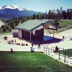 Future actors getting training at Lake Dillon Amphitheater. This works,  #amphitheater #dillon #lakedillontheater