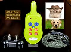 Groovypets 1-Dog Remote Dog Training Collar Systems:Rechargeable Remote Dog Collar No Bark Training Shock Collar System -- Check this useful article by going to the link at the image. #DogTrainingBehaviorAids