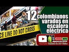 12 colombianos varados en escalera eléctrica