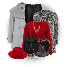 """""""Pea Coat and Leggings"""" by bbroxton on Polyvore"""