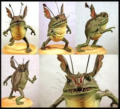 """Toad Goblin - Teves Design Studio """"I created this little concept sculpture for The Spiderwick Chronicles, before the project was greenlit. Woodland Creatures, Fantasy Creatures, Mythical Creatures, Easy Clay Sculptures, Sculpture Clay, Creature Feature, Creature Design, Goblin, Ooak Dolls"""