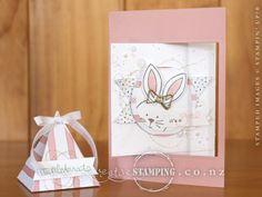 Friends & Flowers Baby Girl Swing Card