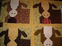 Welcome a herd of cows to your sewing room Pattern: baby bovines by debbie mumm 3d Quilts, Patchwork Quilt Patterns, Small Quilts, Applique Quilts, Baby Quilts, Seminole Patchwork, Patriotic Quilts, Quilting Projects, Sewing Projects