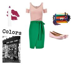 """""""Colors"""" by billie-ann-richardson ❤ liked on Polyvore featuring River Island, Lipsy and Salvatore Ferragamo"""