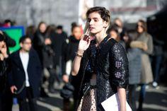 Street Style | PFW F/W 2014 - Anne Catherine Frey